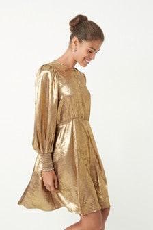 Gold Tea Dress