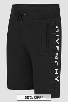 Givenchy Kids Boys Black Shorts