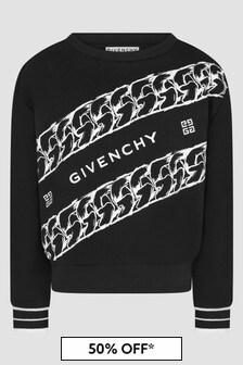Givenchy Kids Girls Black Sweat Top