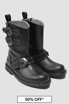 Givenchy Kids Girls Black Boots