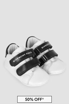 Givenchy Kids Baby White Trainers