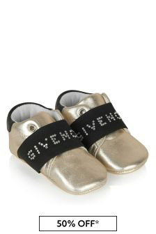 Givenchy Kids Baby Girls Gold Trainers