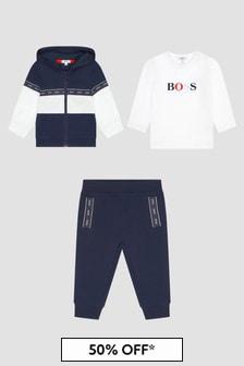 Boss Kidswear Baby Boys Navy Tracksuit