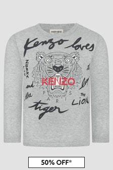 Kenzo Kids Baby Boys Grey T-Shirt