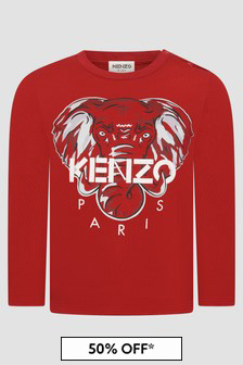 Kenzo Kids Baby Boys Red T-Shirt