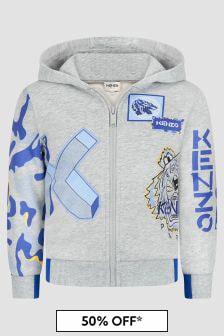 Kenzo Kids Boys Grey Sweat Top