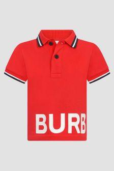 Burberry Kids Red Polo Shirt