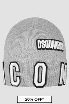 Dsquared2 Kids Boys Grey Hat