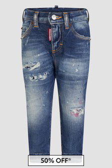 Dsquared2 Kids Baby Boys Blue Jeans