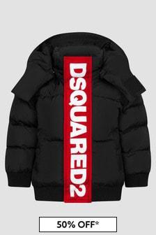 Dsquared2 Kids Baby Boys Black Jacket