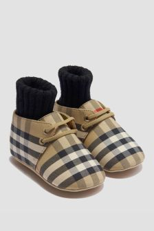 Burberry Kids Baby Beige Shoes