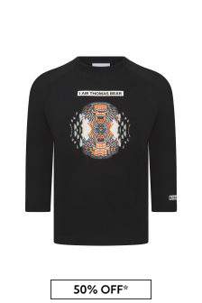 Burberry Kids Boys Black T-Shirt