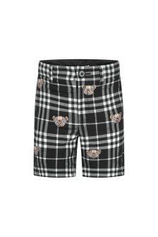 Burberry Kids Boys Black Shorts