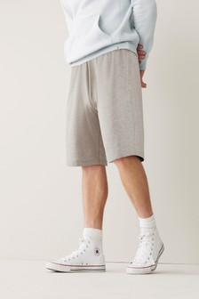 Grey Relaxed Fit Jersey Shorts