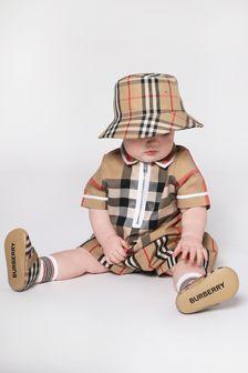 Burberry Kids Baby Beige Hat