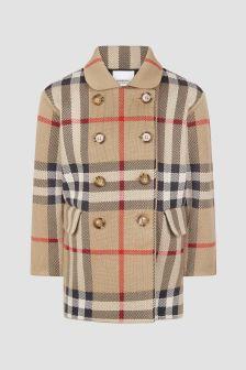 Burberry Kids Girls Beige Coat