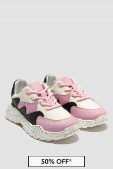 Emporio Armani Girls Pink Trainers