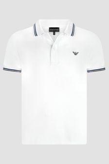 Emporio Armani Boys White Polo Shirt