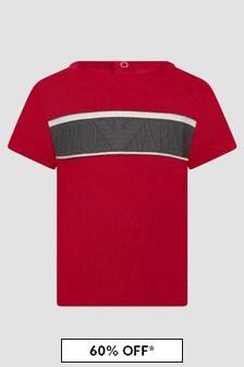 Emporio Armani Baby Boys Red T-Shirt