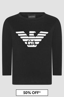Emporio Armani Boys Black T-Shirt