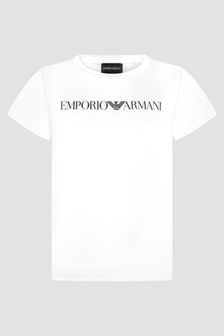 Emporio Armani Boys White T-Shirt