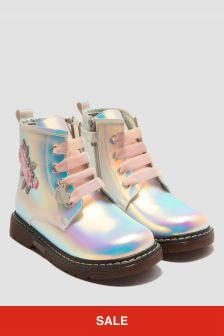 Monnalisa Girls Silver Boots