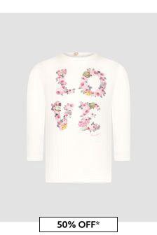Monnalisa Baby Girls White T-Shirt