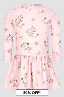 Monnalisa Baby Girls Pink Dress