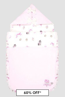 Monnalisa Baby Girls Cream Sleep Bag
