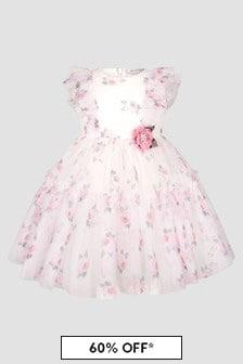 Monnalisa Baby Girls Cream Dress
