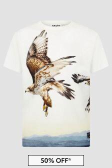 Molo Boys Cream T-Shirt