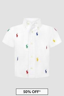 Ralph Lauren Kids Baby Boys White Shirt