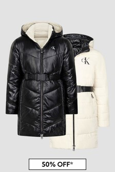 Calvin Klein Jeans Girls Black Coat