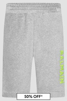Balmain Boys Grey Shorts