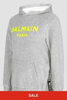 Balmain Boys Grey Hoodie