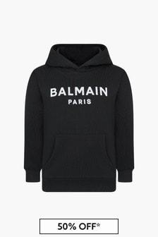 Balmain Boys Black Hoodie