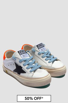 Golden Goose Kids White Trainers