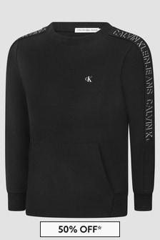Calvin Klein Jeans Boys Black Sweat Top
