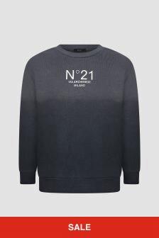 N°21 Boys Grey Sweat Top