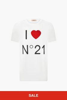 N°21 Girls White T-Shirt
