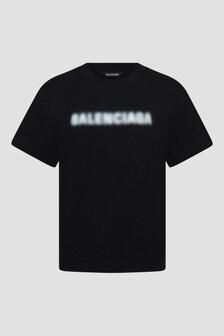 Balenciaga Kids Unisex Black T-Shirt