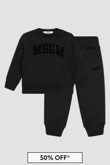 MSGM Baby Black Tracksuit