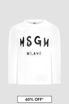 MSGM Baby White T-Shirt