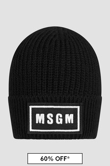 MSGM Kids Black Hat