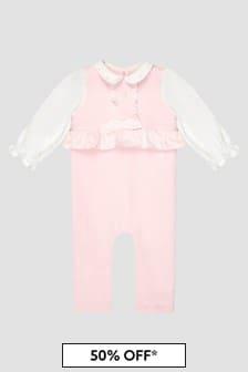 Patachou Baby Girls Pink Rompersuit