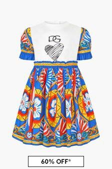 Dolce & Gabbana Kids Girls White Dress