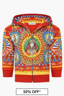 Dolce & Gabbana Kids Baby Girls Red Sweat Top