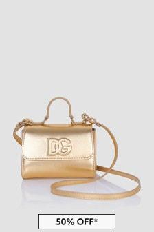 Dolce & Gabbana Kids Girls Gold Bag