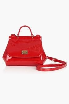 Dolce & Gabbana Kids Girls Red Bag