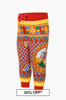 Dolce & Gabbana Kids Baby Girls Red Trousers